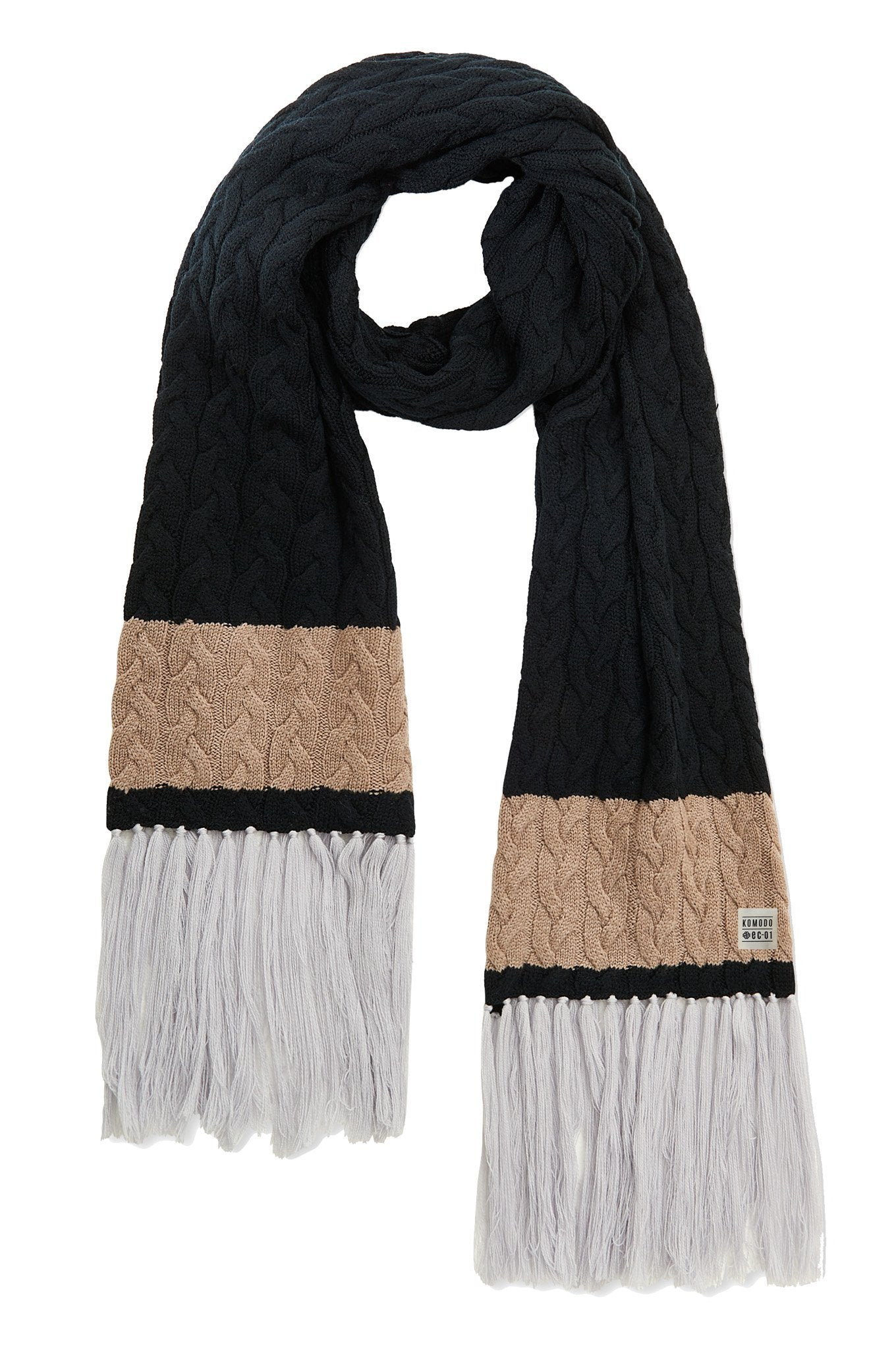 LUA Merino Wool Scarf Black - Komodo Fashion