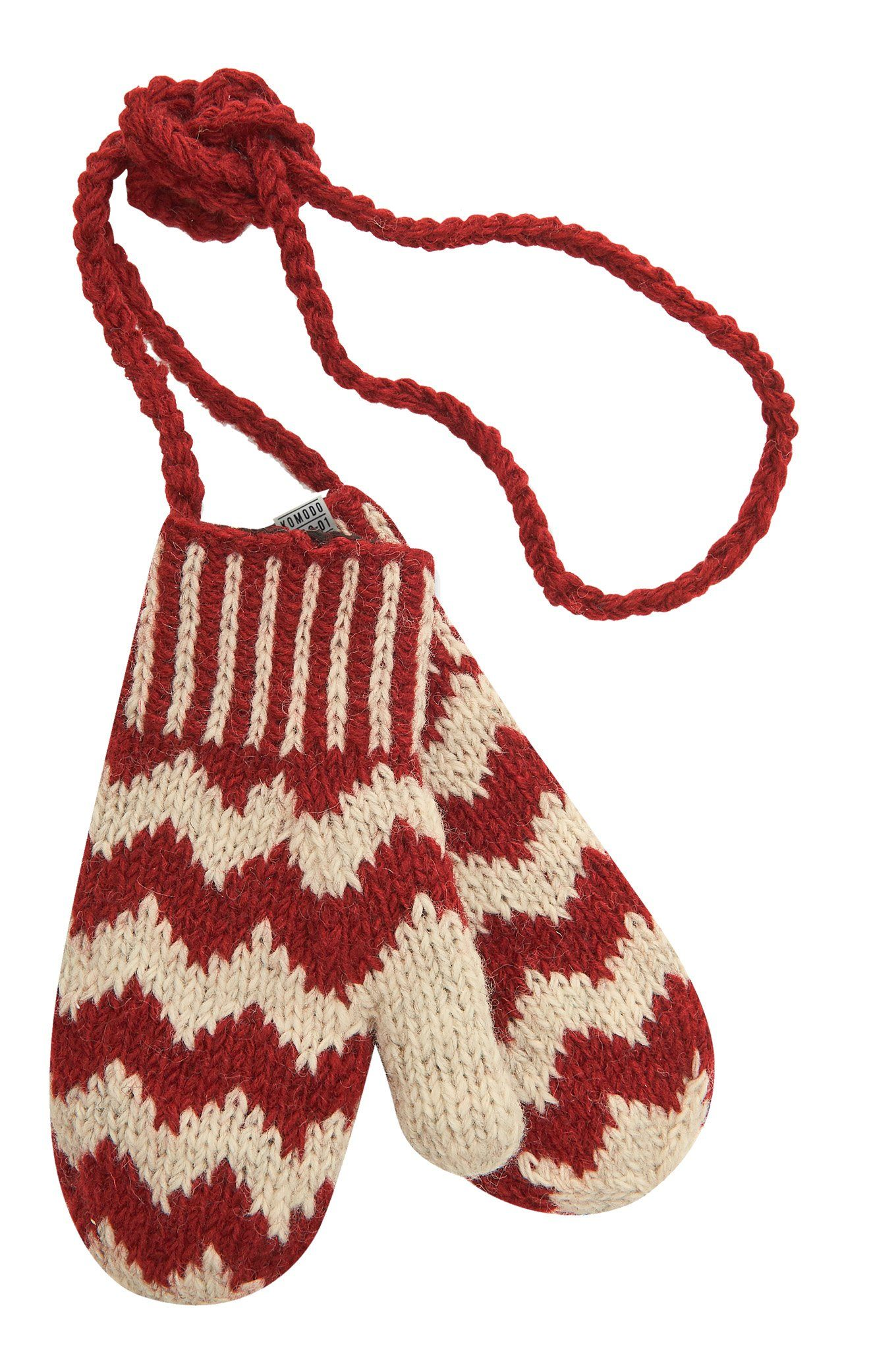 Accessories - MAEVE ZIG-ZAG Recycled Wool Mittens