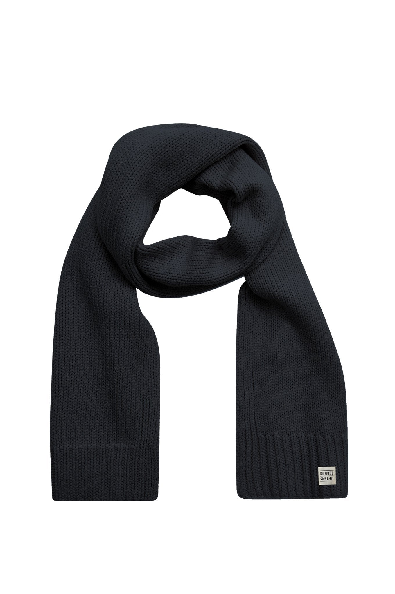 RIM Merino Wool Scarf Black - Komodo Fashion