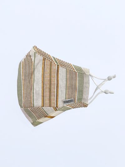 REUSABLE FACE FABRIC FACE MASK - STRIPES