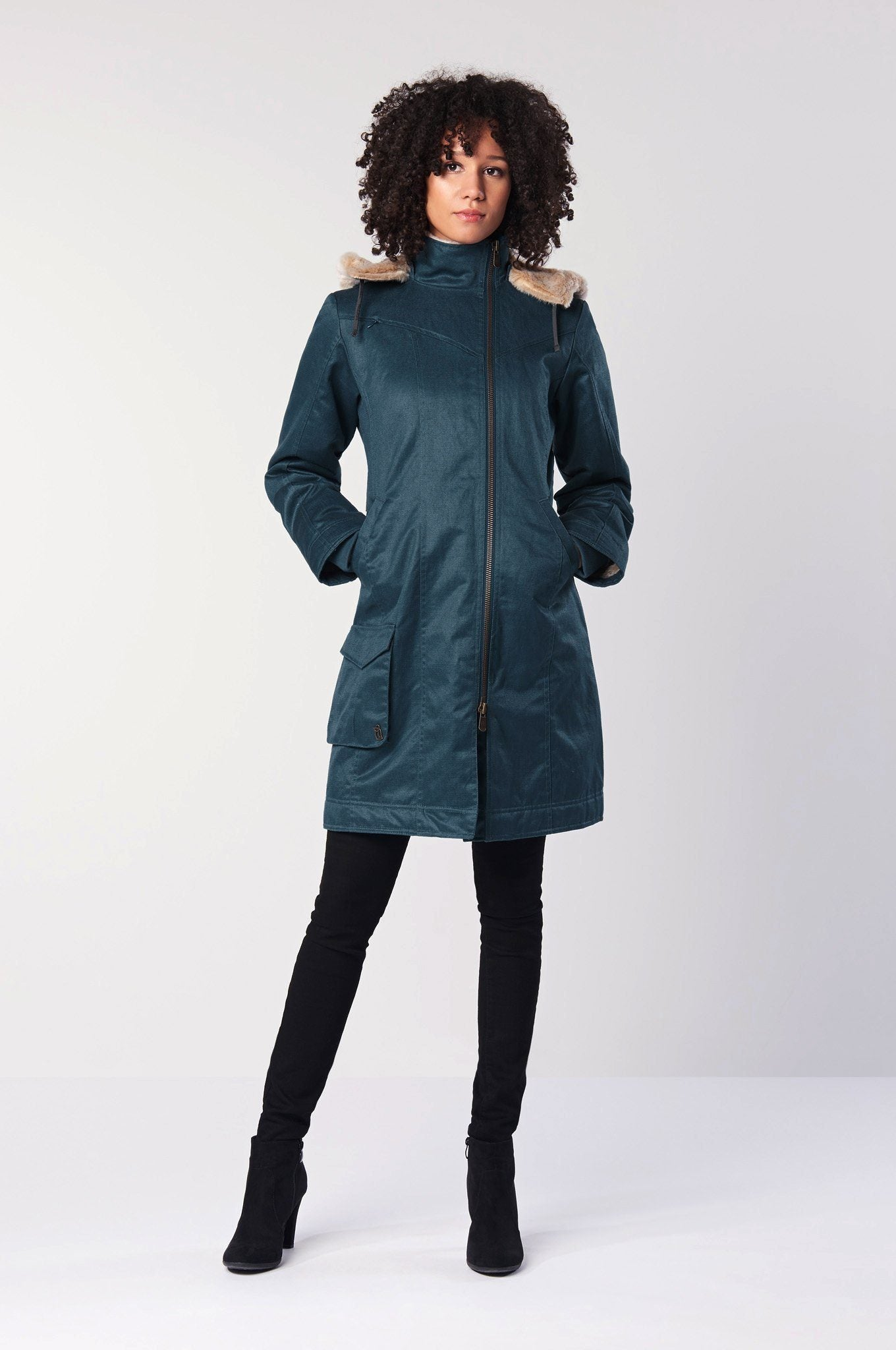 HEMP Vegan Coat Blue - Komodo Fashion