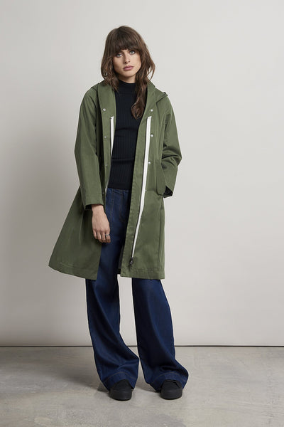 PEABODY Shawl Waterproof Tencel Parka - Komodo Fashion