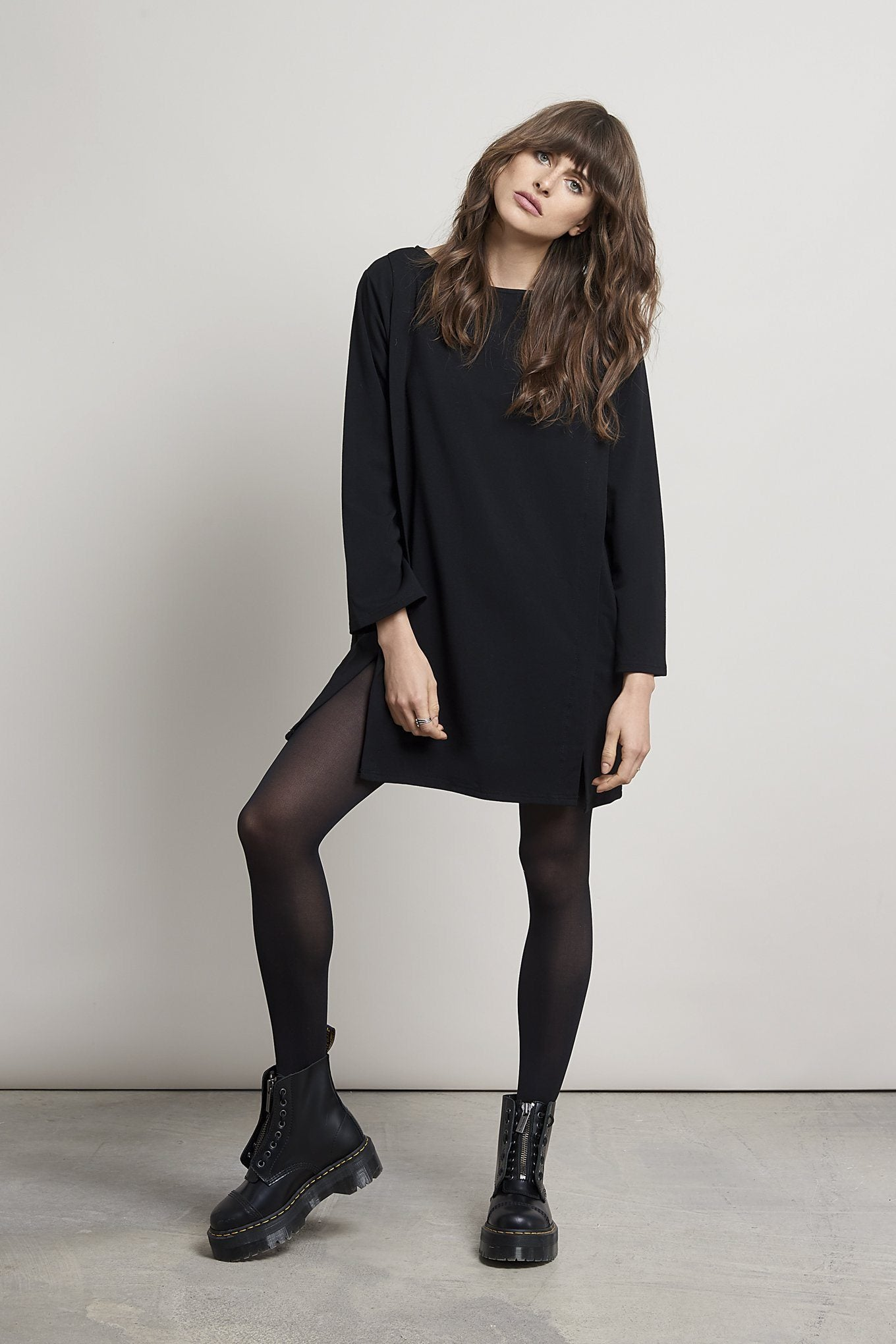 HARBOUR Bamboo Tunic Black - Komodo Fashion