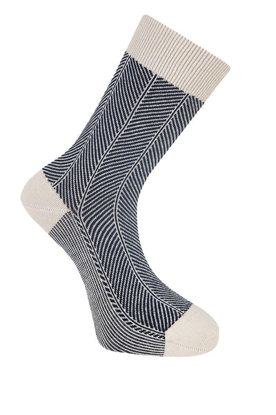 HERRINGBONE Warm Sand Organic Cotton Socks - Komodo Fashion