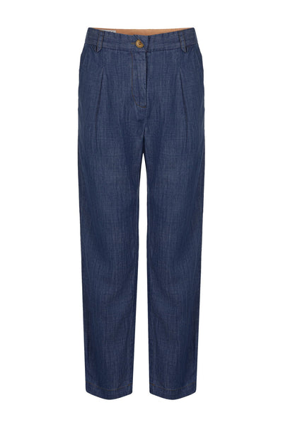 LILA Tencel Linen Trousers Dark Wash - Komodo Fashion