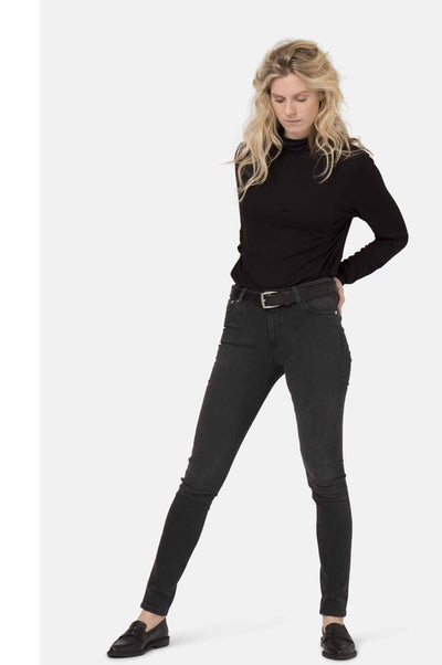 Jeans - HAZEN Womens High Waist Black Jeans By MUD