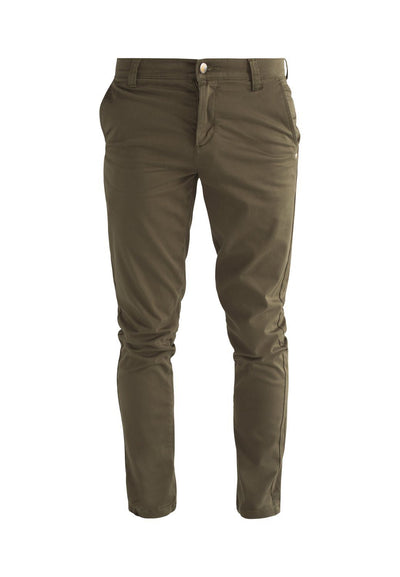 Olive Green Organic Cotton Chino - Komodo Fashion
