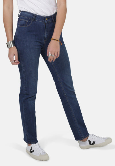 Emily Dark Wash Organic Cotton Jeans - Komodo Fashion