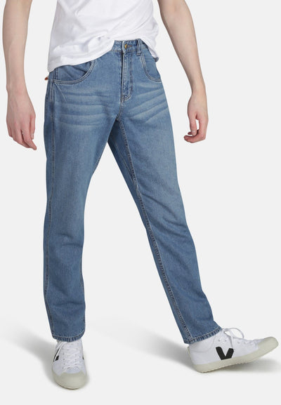 Worker Light Vintage Organic Cotton Jeans - Komodo Fashion