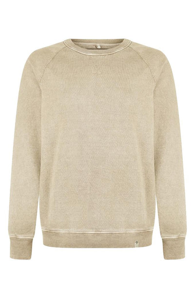 ANTON Organic Cotton Raglan Sweat Oatmeal - Komodo Fashion