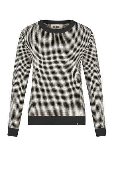 Jumper - HANNA Organic Cotton Jumper Coal & Oatmeal
