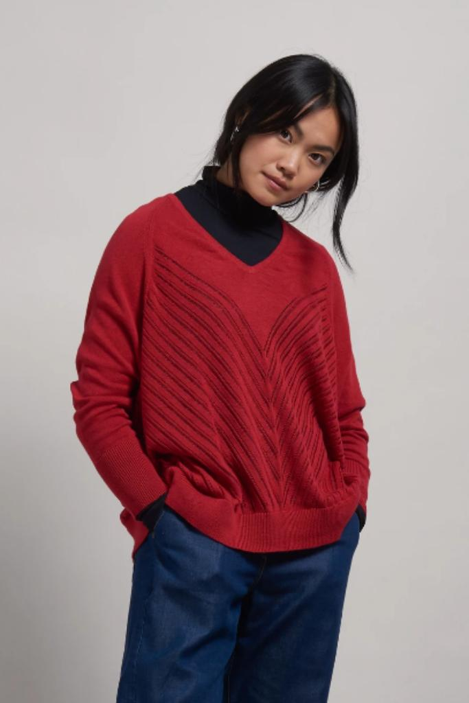MAHI Organic Cotton Jumper Burnt Red - Komodo Fashion