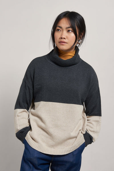 REMIA Organic Cotton Jumper Coal - Komodo Fashion