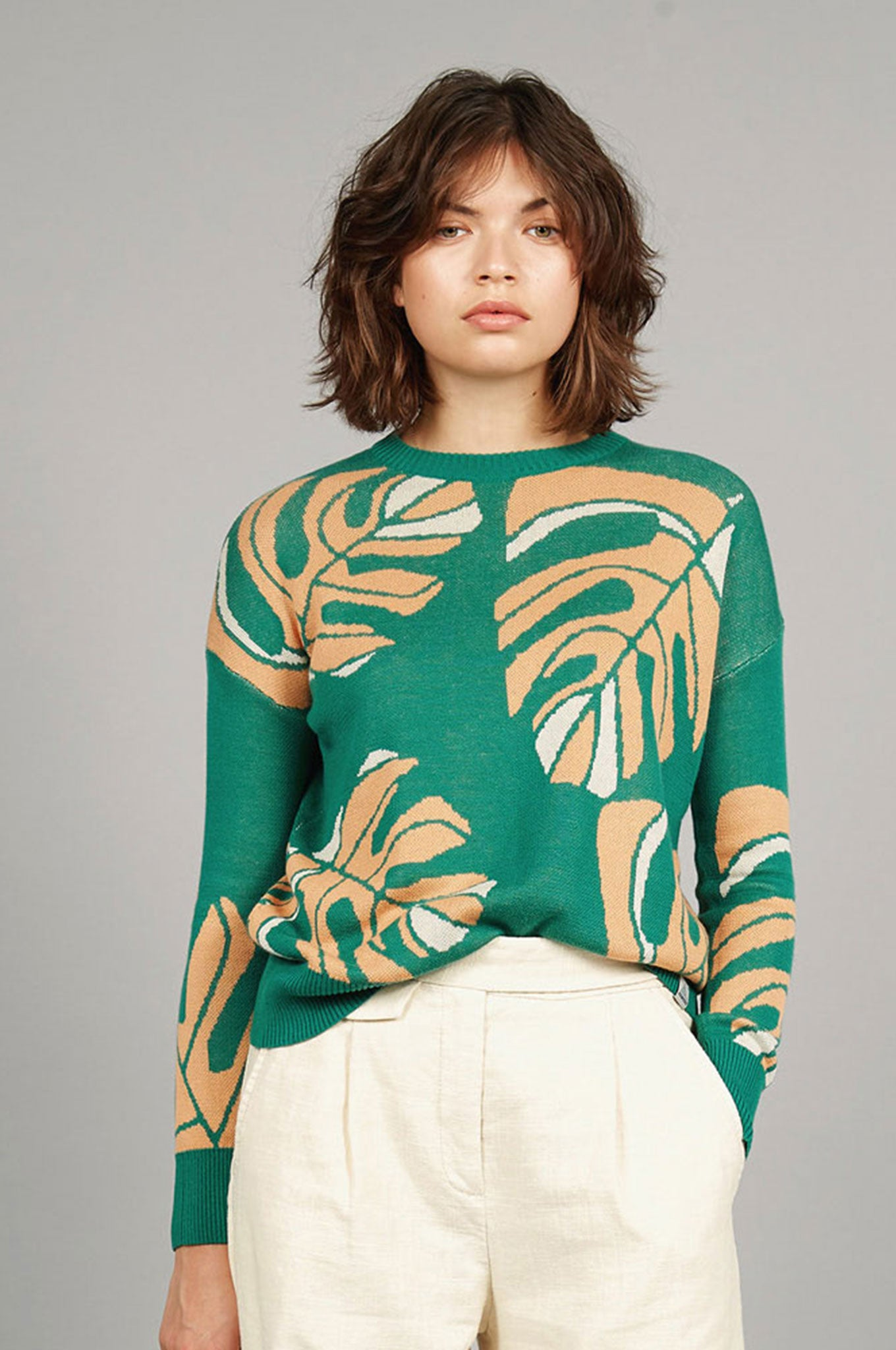 JUNGLE Organic Cotton Jumper Emerald