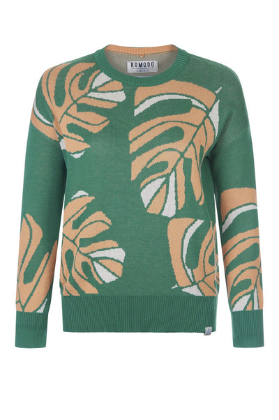 JUNGLE Organic Cotton Jumper Emerald - Komodo Fashion