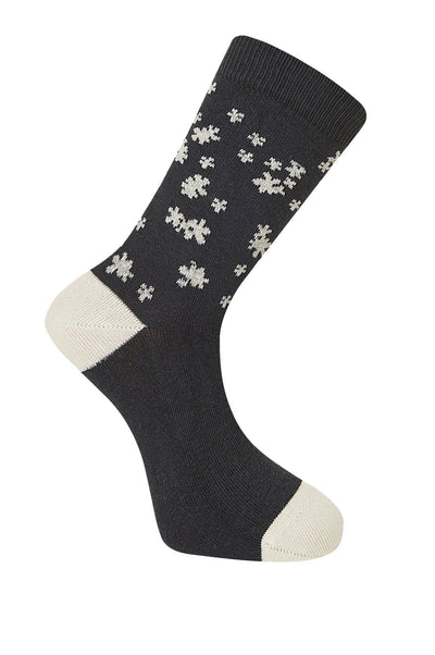 BLOSSOM Coal Organic Cotton Socks - Komodo Fashion