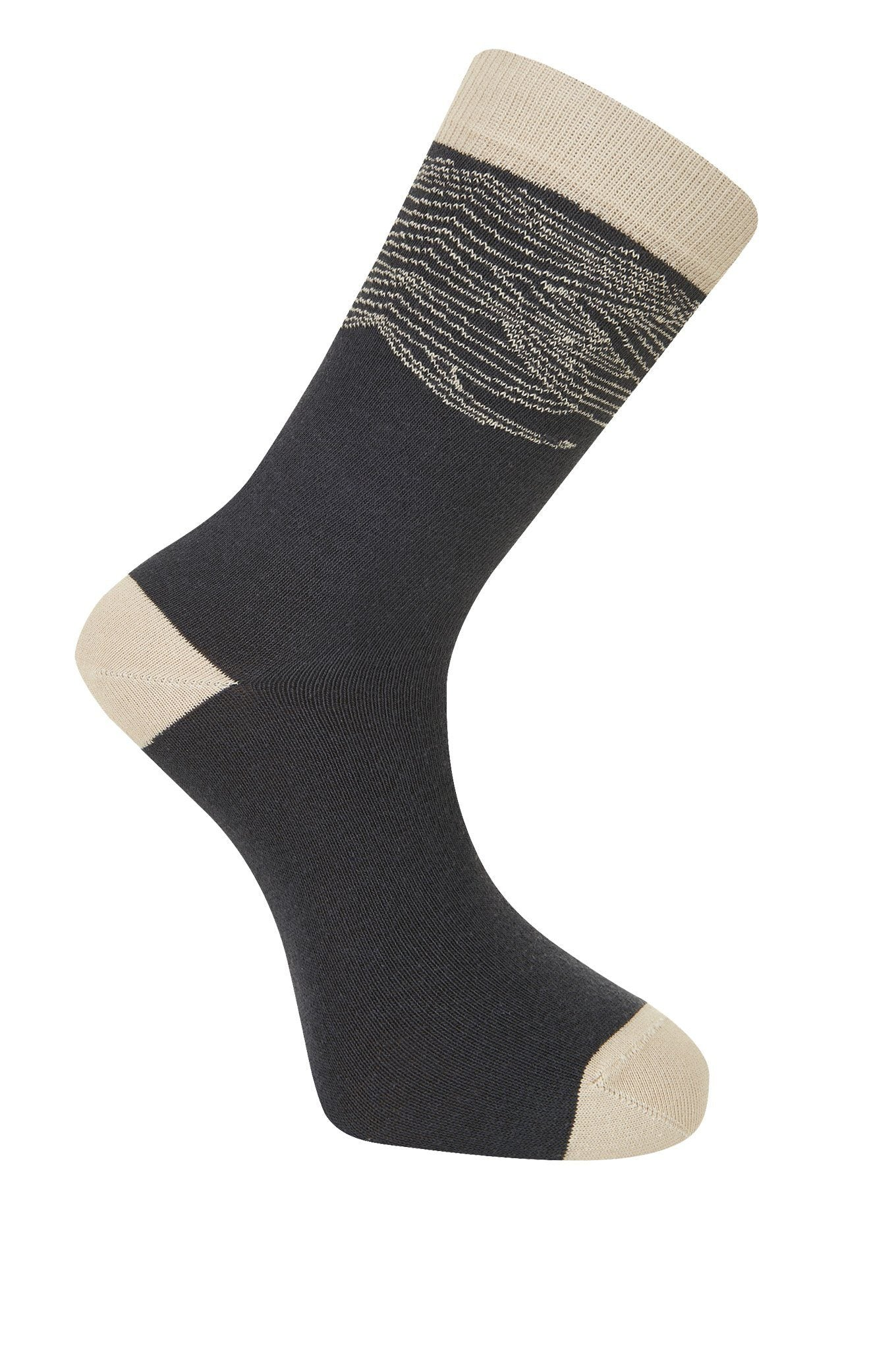 WAVE Coal Organic Cotton Socks - Komodo Fashion
