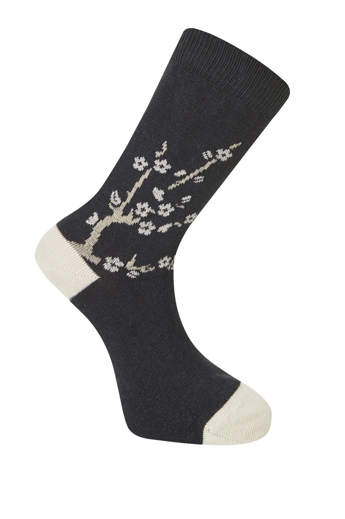 CHERRY Blossom Coal Organic Cotton Socks - Komodo Fashion