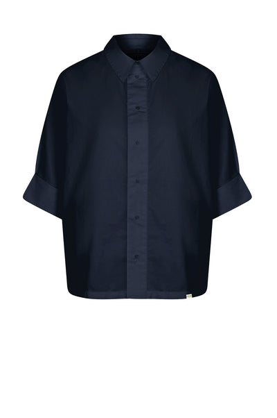 KIMONO Organic Cotton Shirt Indigo - Komodo Fashion