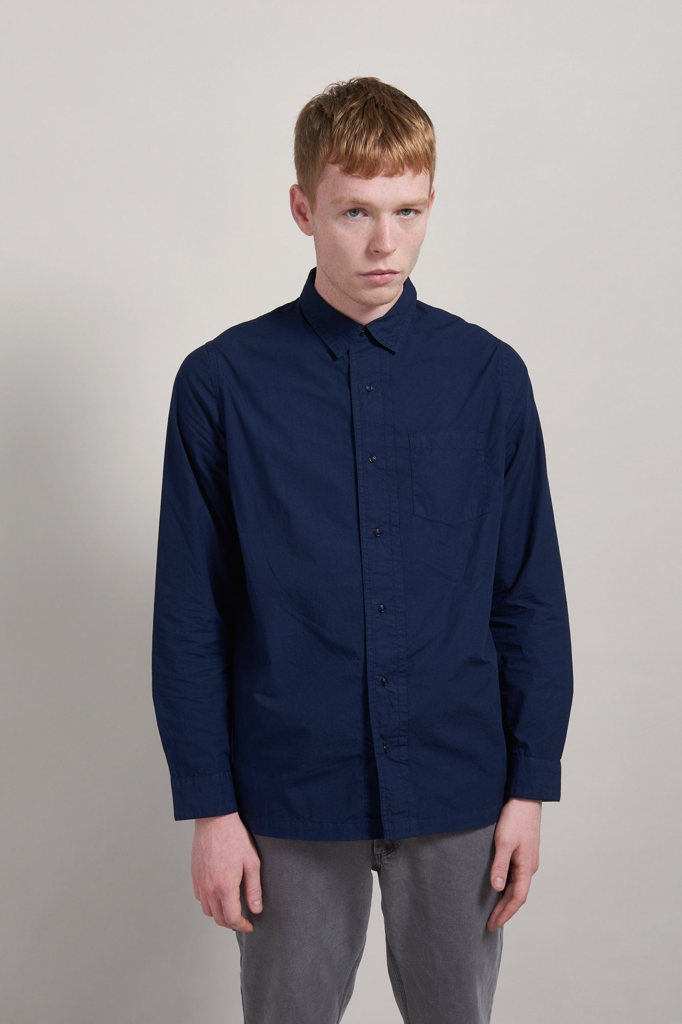 Shirt - TOMAS Organic Cotton Shirt Indigo