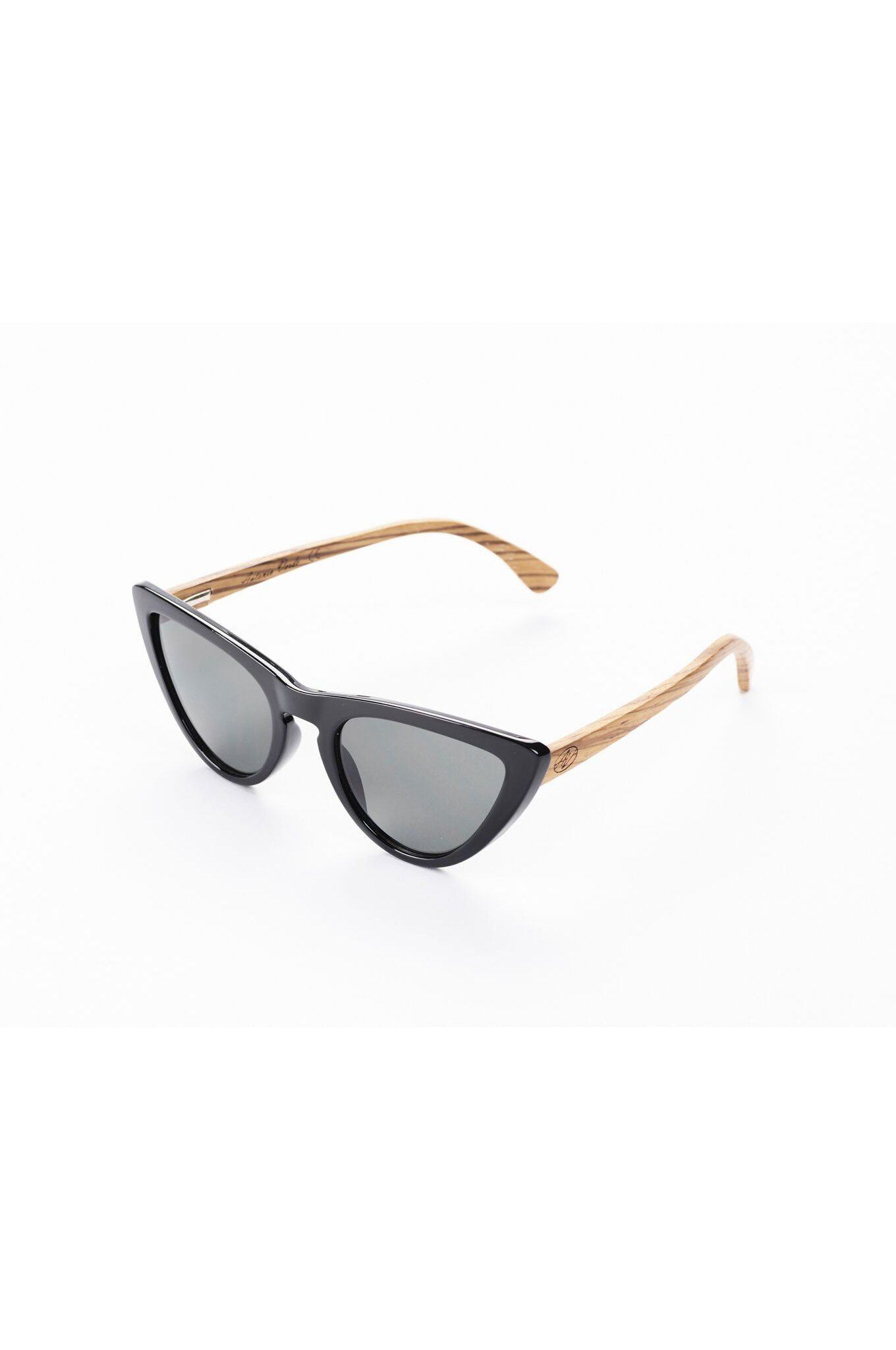 Sustainable Vegan Bamboo Sunglasses Black Cat by Antonio Verde