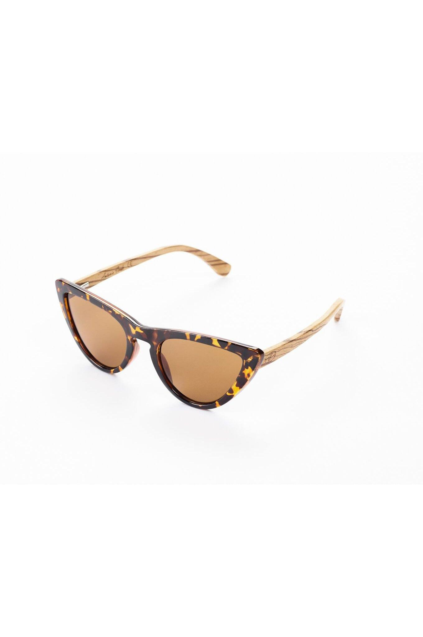 Sustainable & Vegan Bamboo Sunglasses Panther Cat by Antonio Verde