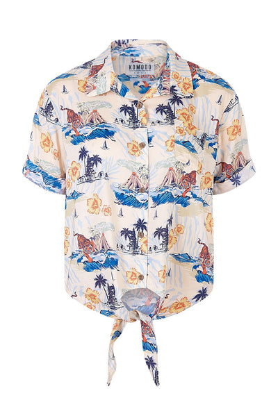 SURF Rayon Shirt Bali Surf Print - Komodo Fashion