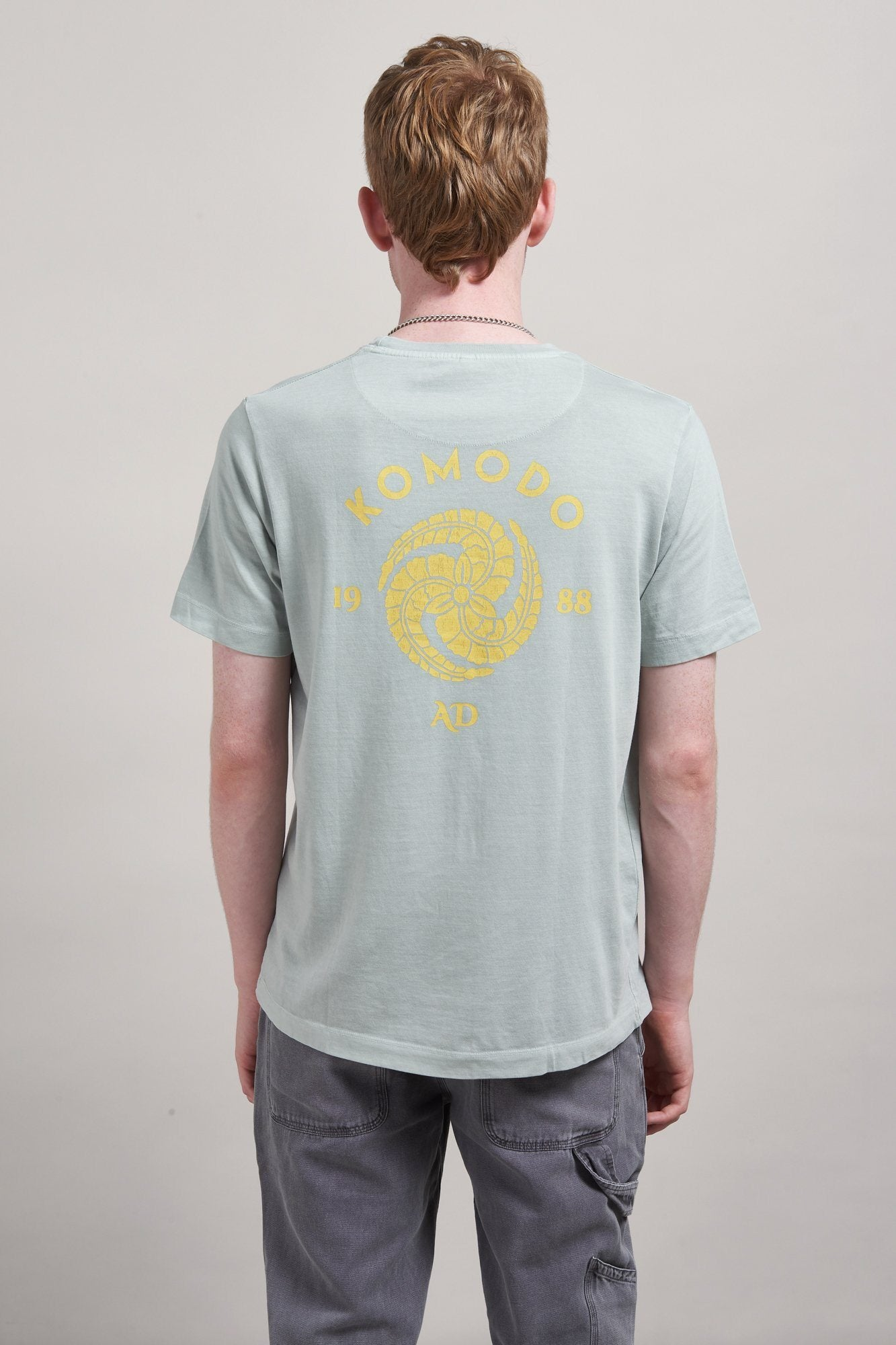 T-Shirt - KIN CREST Organic Cotton T-Shirt Dove Grey