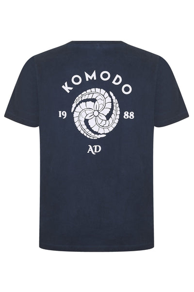 KIN CREST Organic Cotton T-Shirt Indigo - Komodo Fashion