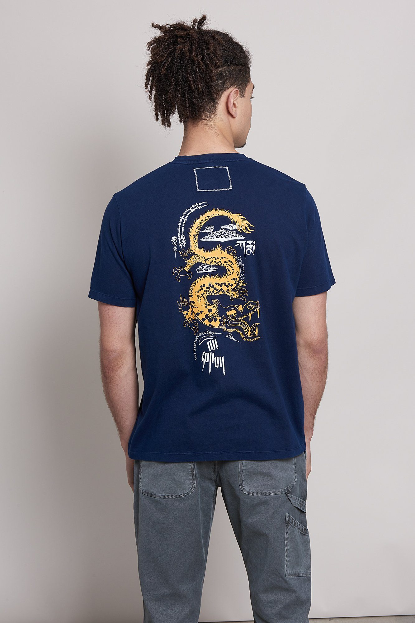 KIN DRAGON Organic Cotton T-Shirt Indigo - Komodo Fashion