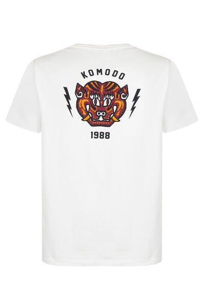 KIN TIGER Organic Cotton T-Shirt White - Komodo Fashion