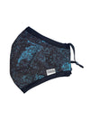 REUSABLE FACE FABRIC FACE MASK - TIGRESS BLUE