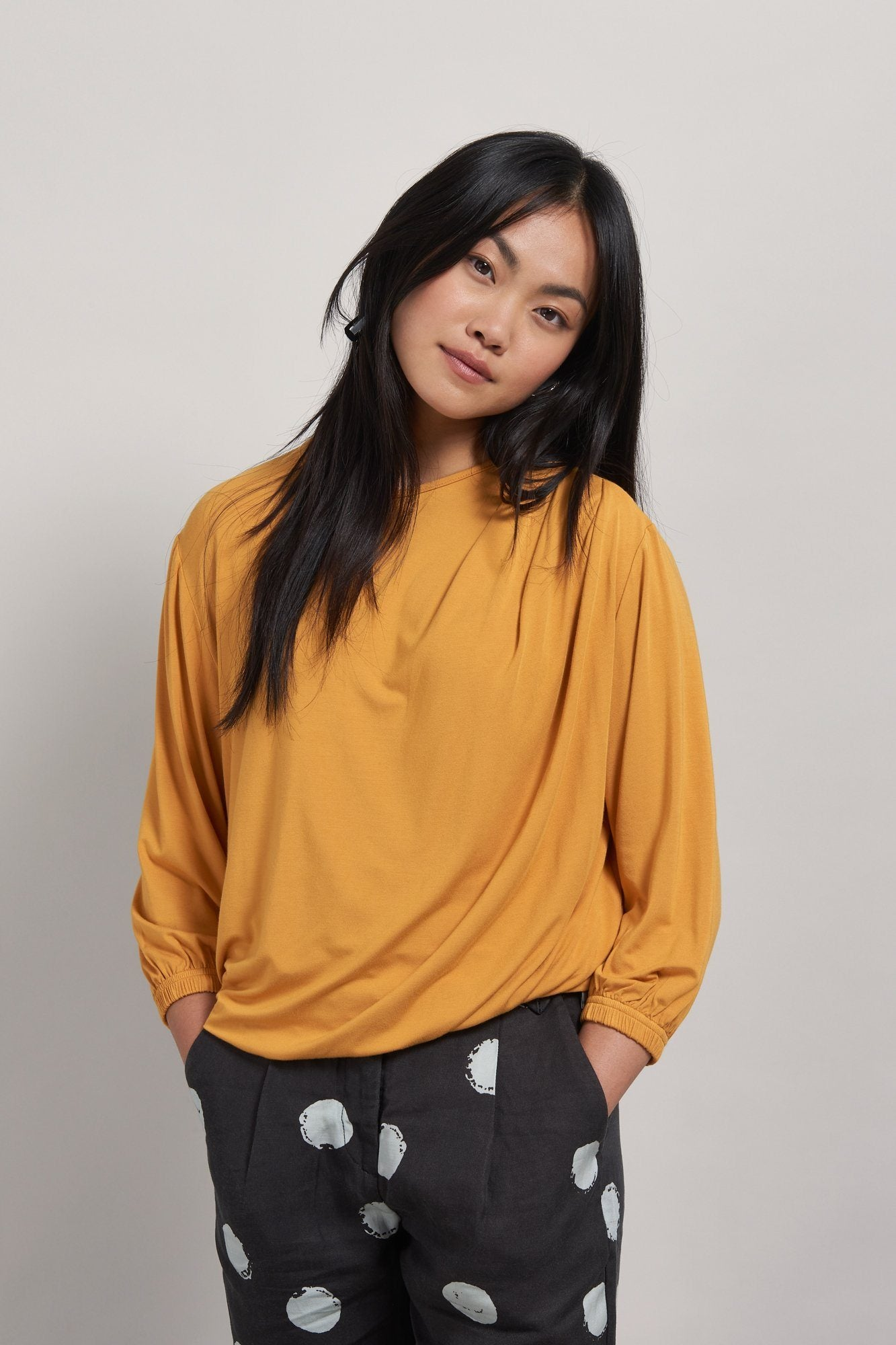 DRIFT Bamboo Drape Top Gold - Komodo Fashion
