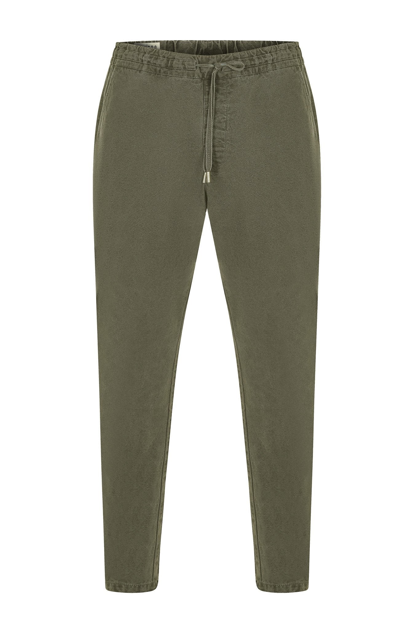 Trousers - AGUST Organic Cotton Draw Cord Cargos Khaki