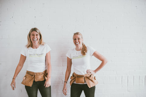 Sisters Julia and Rebecca Sinclair-Smith co-founders or Smith Farms Natural Skincare