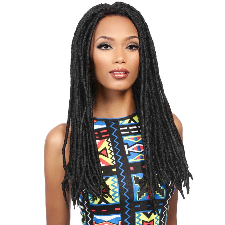 SWISS LACE FAUX LOCS WIG