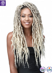 Messy Faux Locs Curly Tips 18