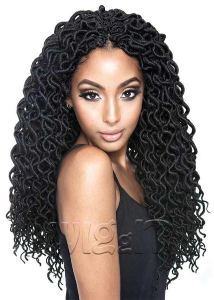 Curled Faux Locs 18