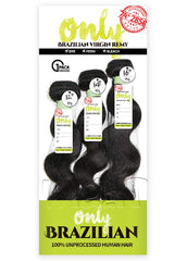 1 Pack Finish - Only BRZ Multi S-Body Natural Unprocessed Virgin Brazilian Remy Weave