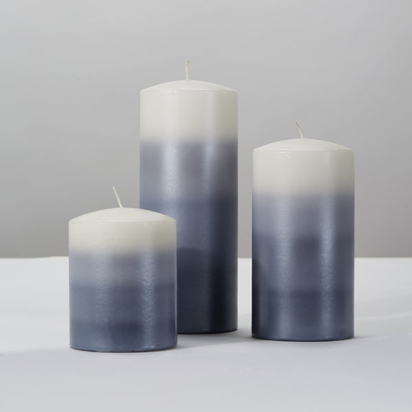 Pillar Candle - Oxford Grey