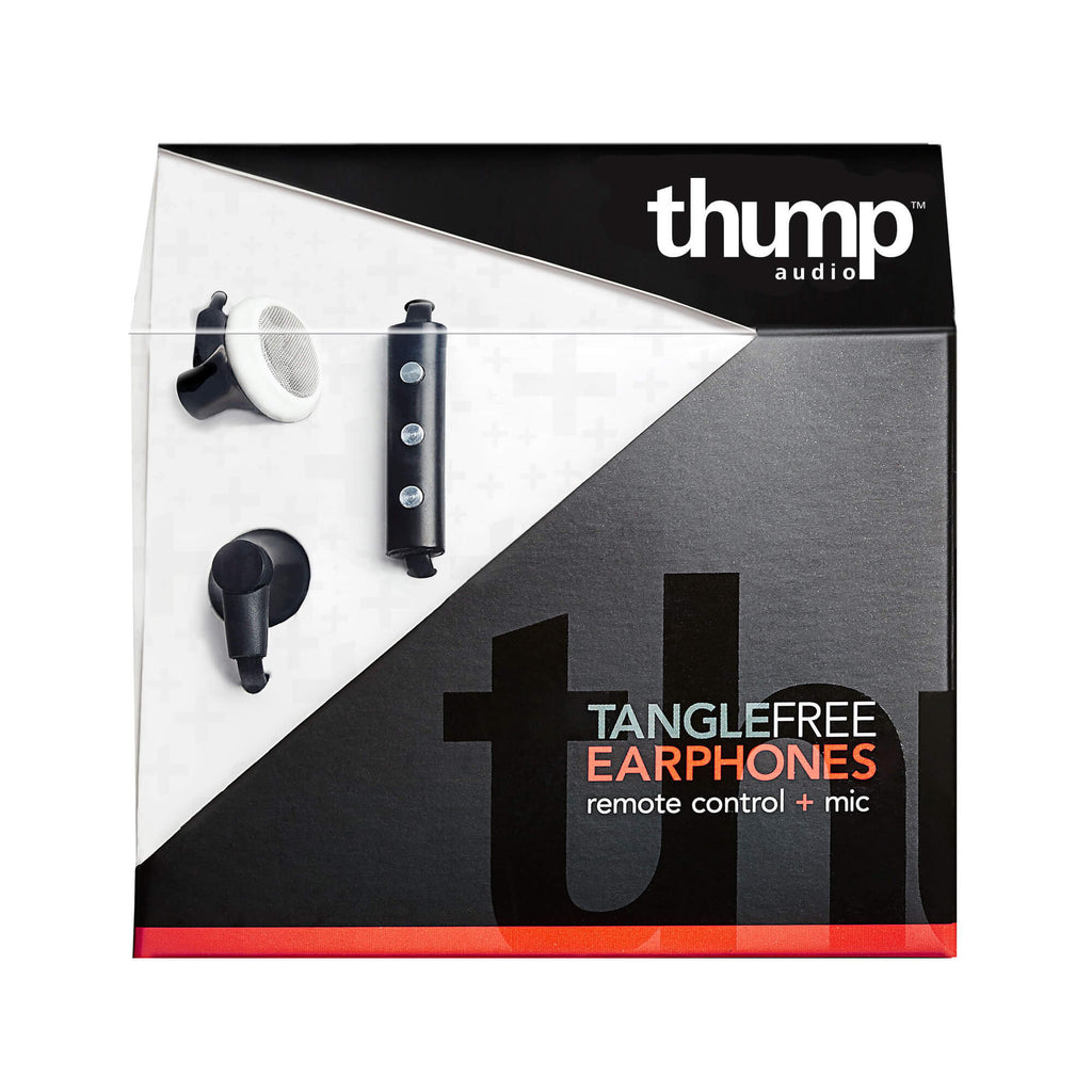 TangleFree Earbuds, Black