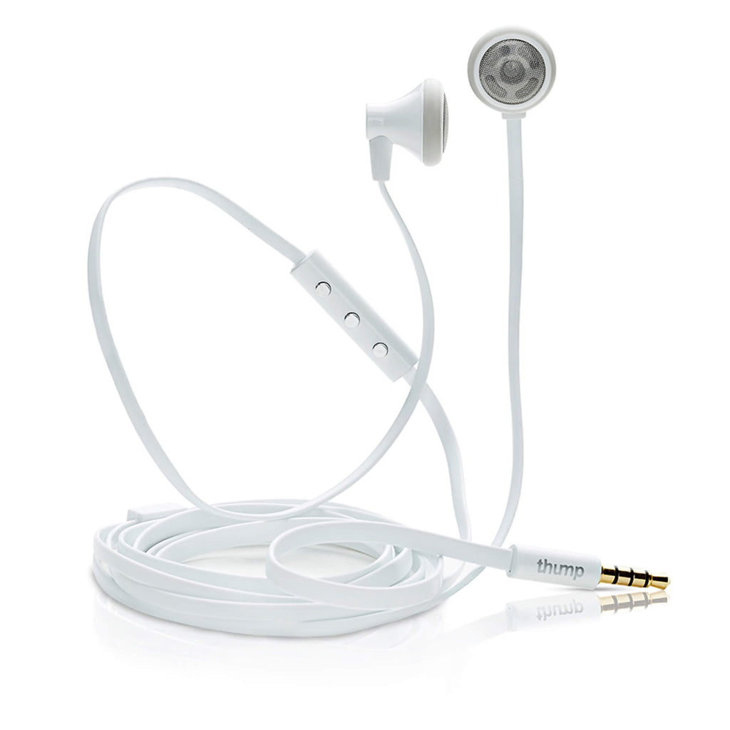 TangleFree Earbuds, White