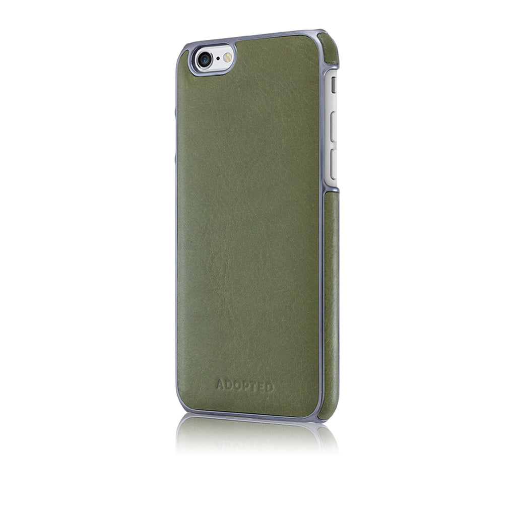 Saddle Lther Wrap iPhone 6, Olive/Gunmetal