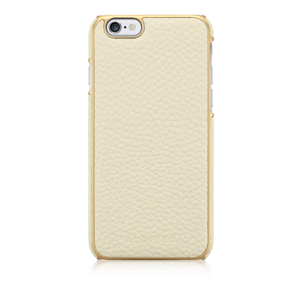 Leather Wrap iPhone 6, White/Gold