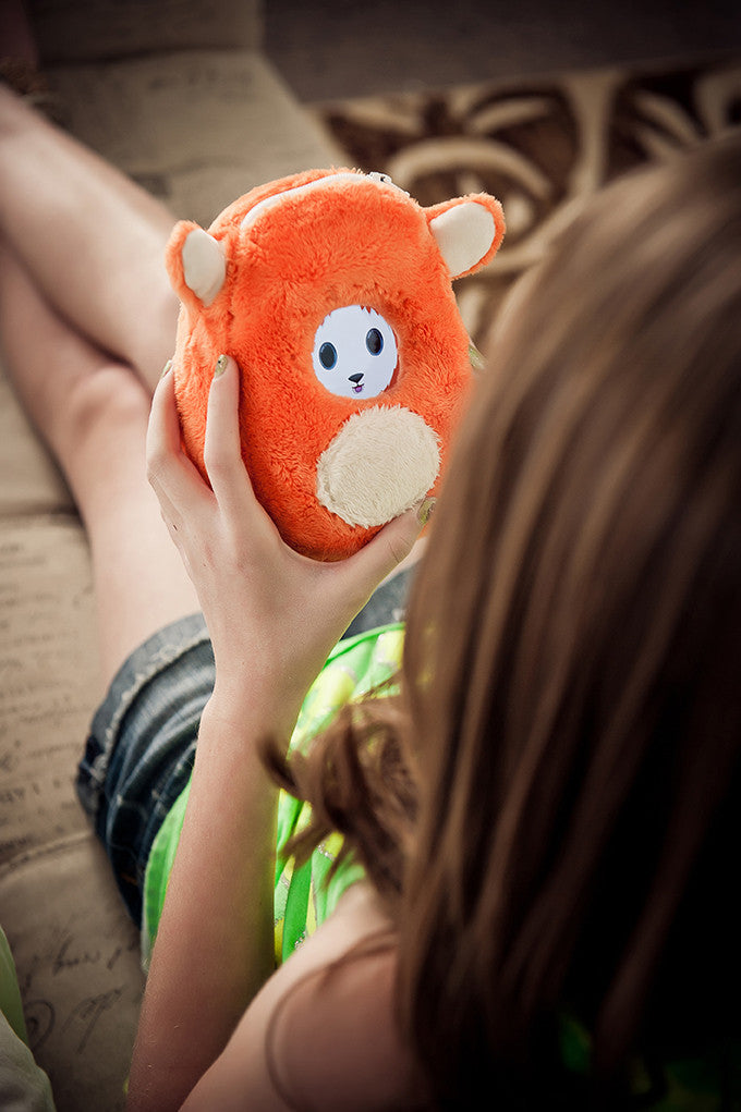 Smart Plush Toy for Kids, Small, Orange