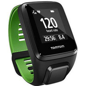 TomTom Runner 3 Cardio + Music GPS Watch (Black / Green) Small