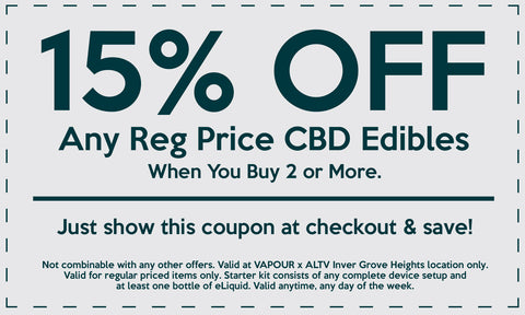 Coupon Vapour Shoppe Altv CBD