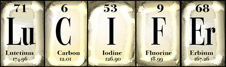 Lucifer, Periodic Table, Sign