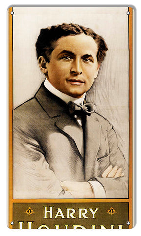Harry Houdini Wall Art Reproduction Magician Metal Sign 8x14