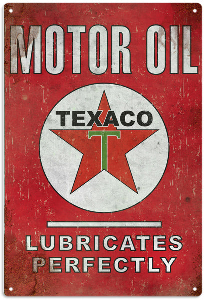 Reproduction Texaco Motor Oil Sign